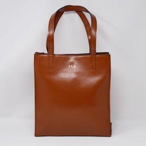 Lillian Vernon Classic Leather Shoulder Bag